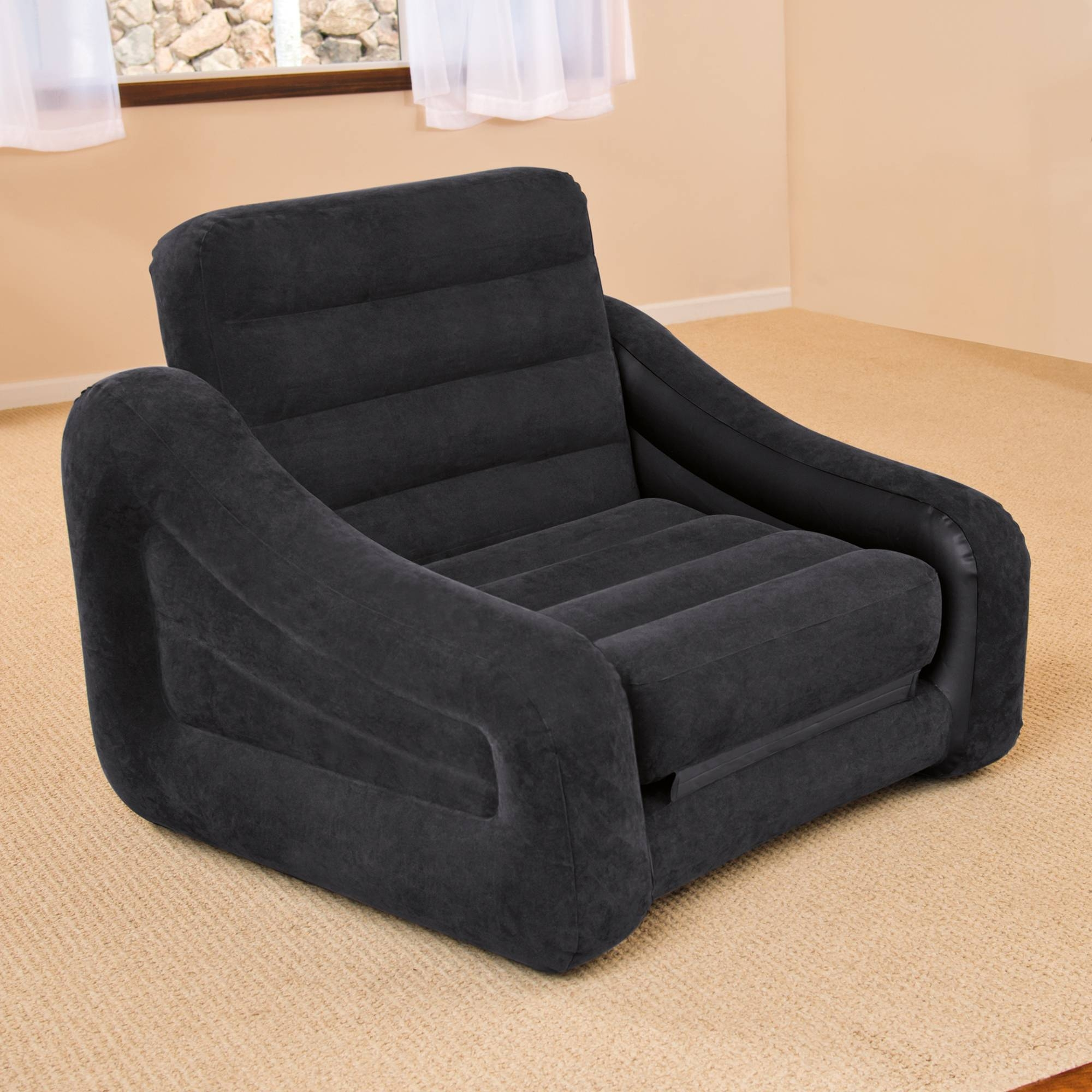 Intex Inflatable Pull-Out Chair And Twin Bed Mattress Sleeper pertaining to Intex Sleep Sofas (Image 5 of 15)