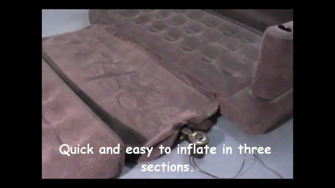 Intex Inflatable Pull Out Sofa & Queen Sized Airbed In One inside Intex Queen Sleeper Sofas (Image 3 of 15)