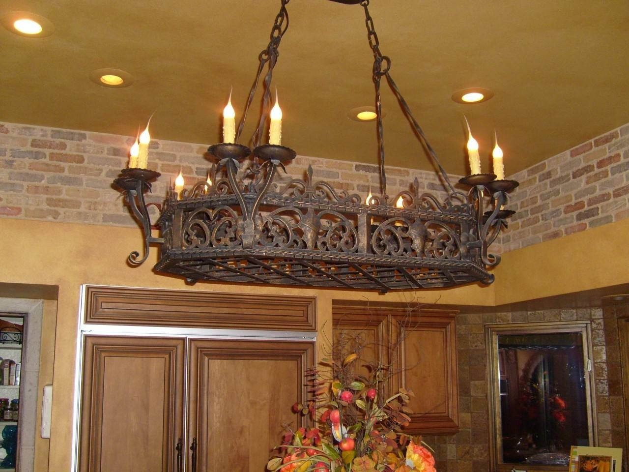 Iron Chandeliers Rustic | Chandelier Models with Wrought Iron Lights Fixtures for Kitchens (Image 6 of 15)