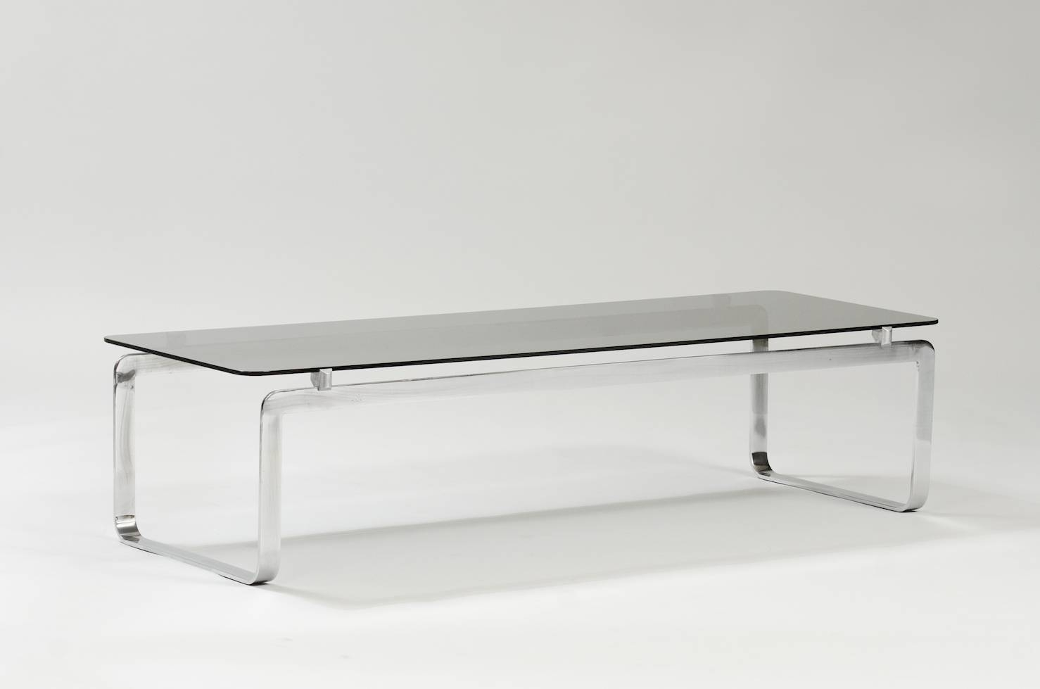 Italian Coffee Table In Chrome And Smoked Glass For Sale At Pamono with Italian Coffee Tables (Image 6 of 15)