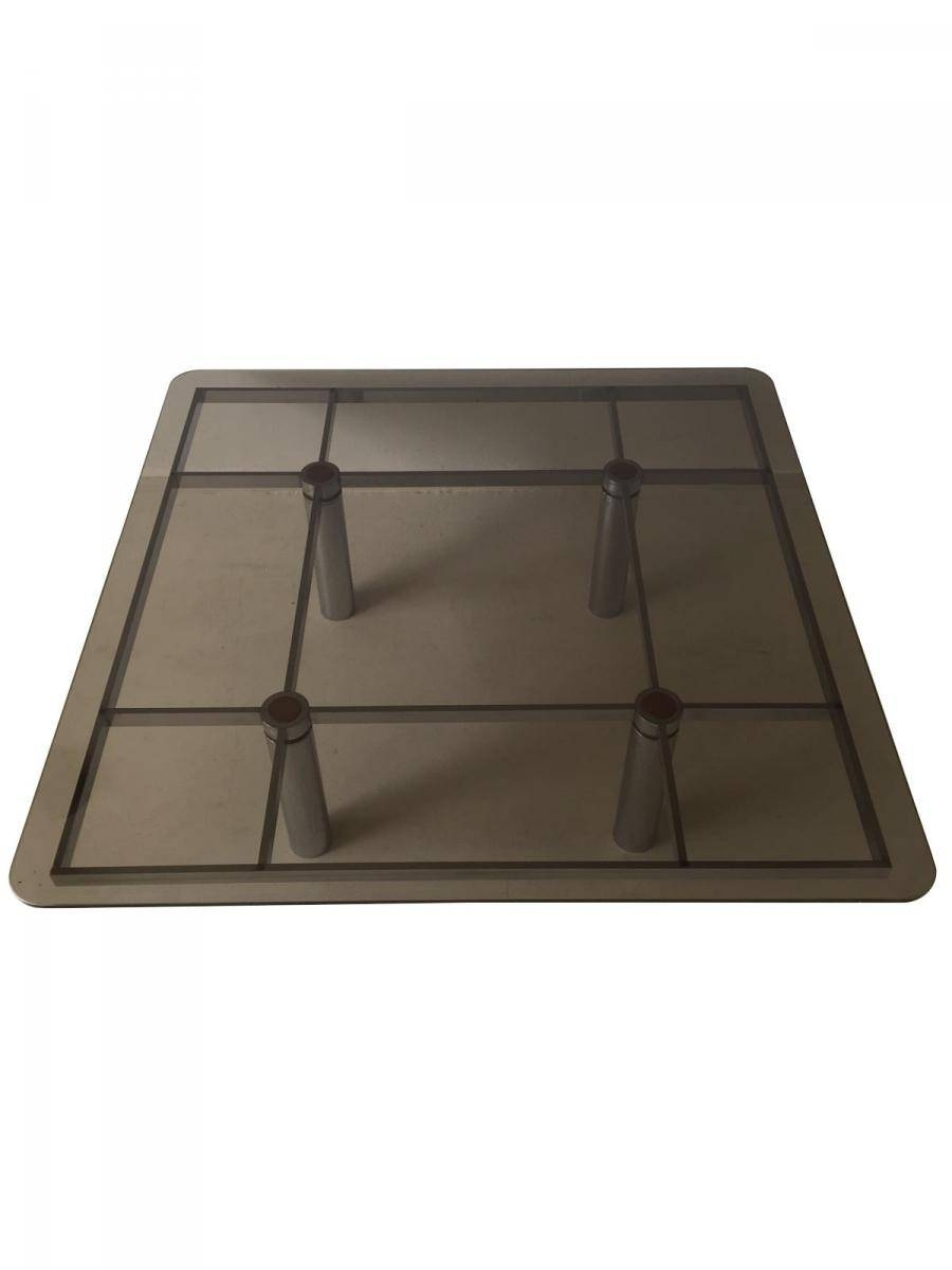 Italian Square Glass Coffee Tabletobia Scarpa For Gavina within Square Glass Coffee Table (Image 5 of 15)