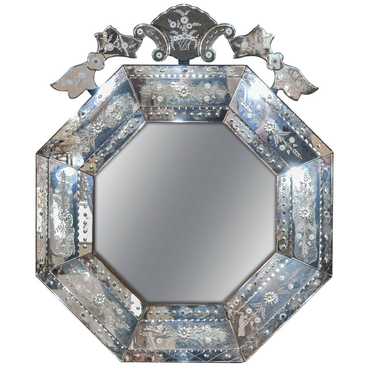 Italian Venetian Etched Glass Mirror - Legacy Antiques regarding Venetian Etched Glass Mirrors (Image 11 of 15)
