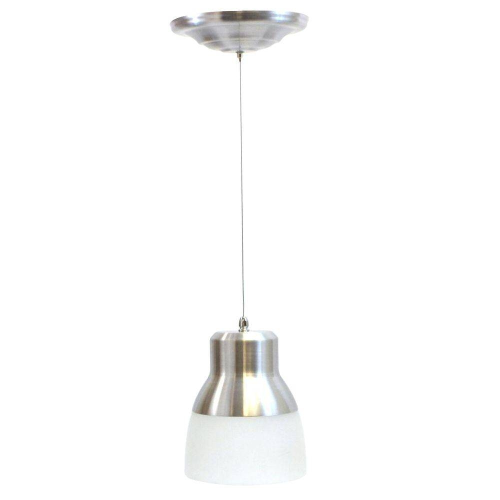 It's Exciting Lighting 24-Light Nickel 2.25-Watt Integrated Led throughout Battery Pendant Lights (Image 9 of 15)