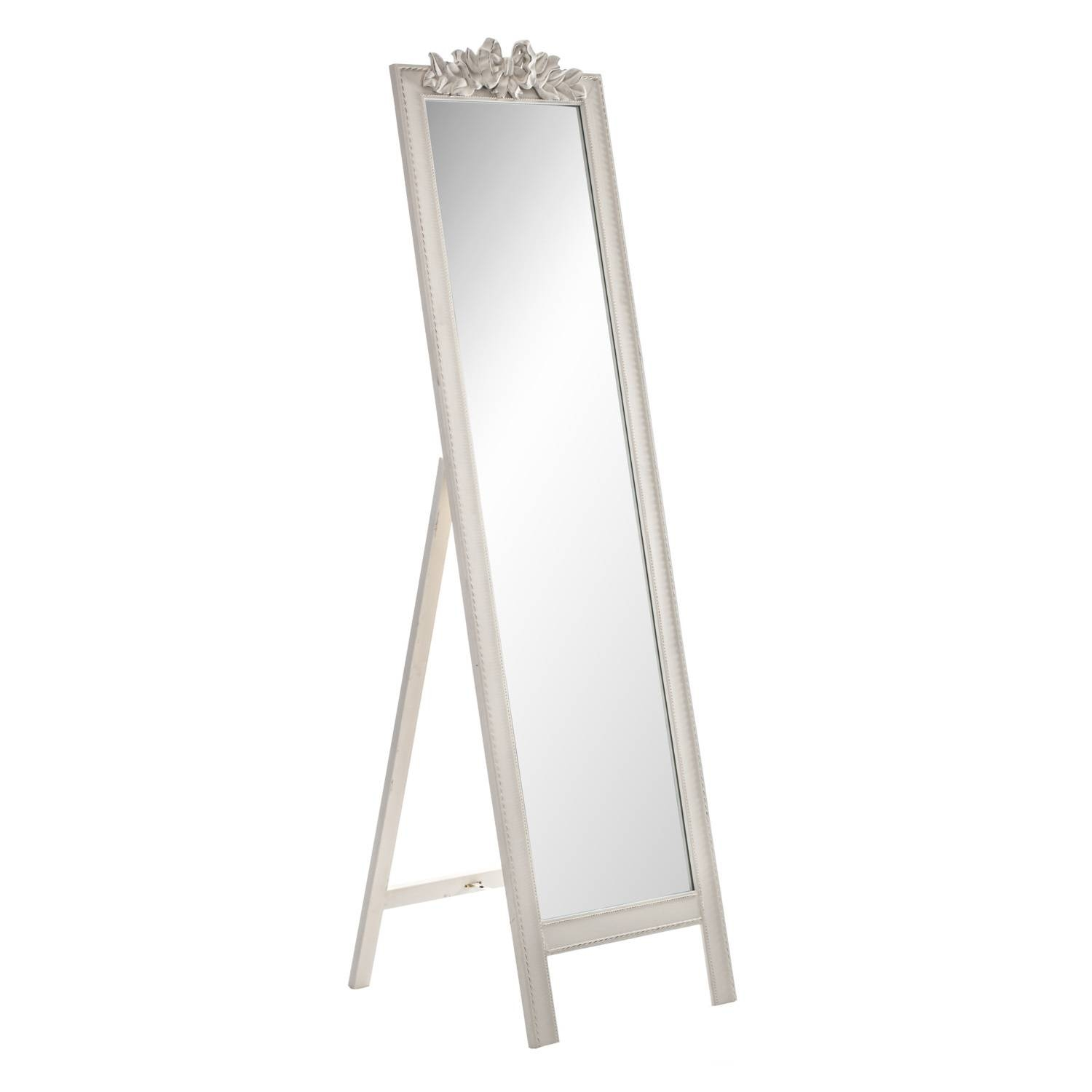 Ivory Bow Free Standing Mirror for Free Standing Black Mirrors (Image 10 of 15)