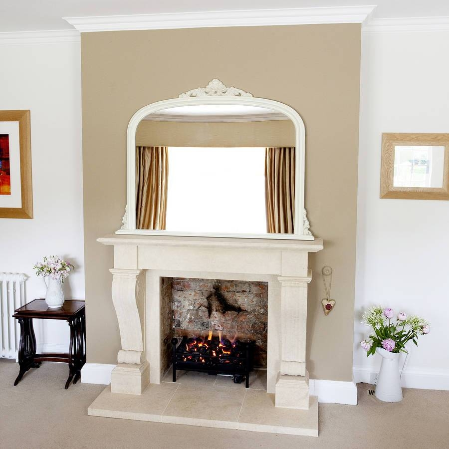 Ivory Overmantel Mirrordecorative Mirrors Online For White Overmantle Mirrors (View 7 of 15)