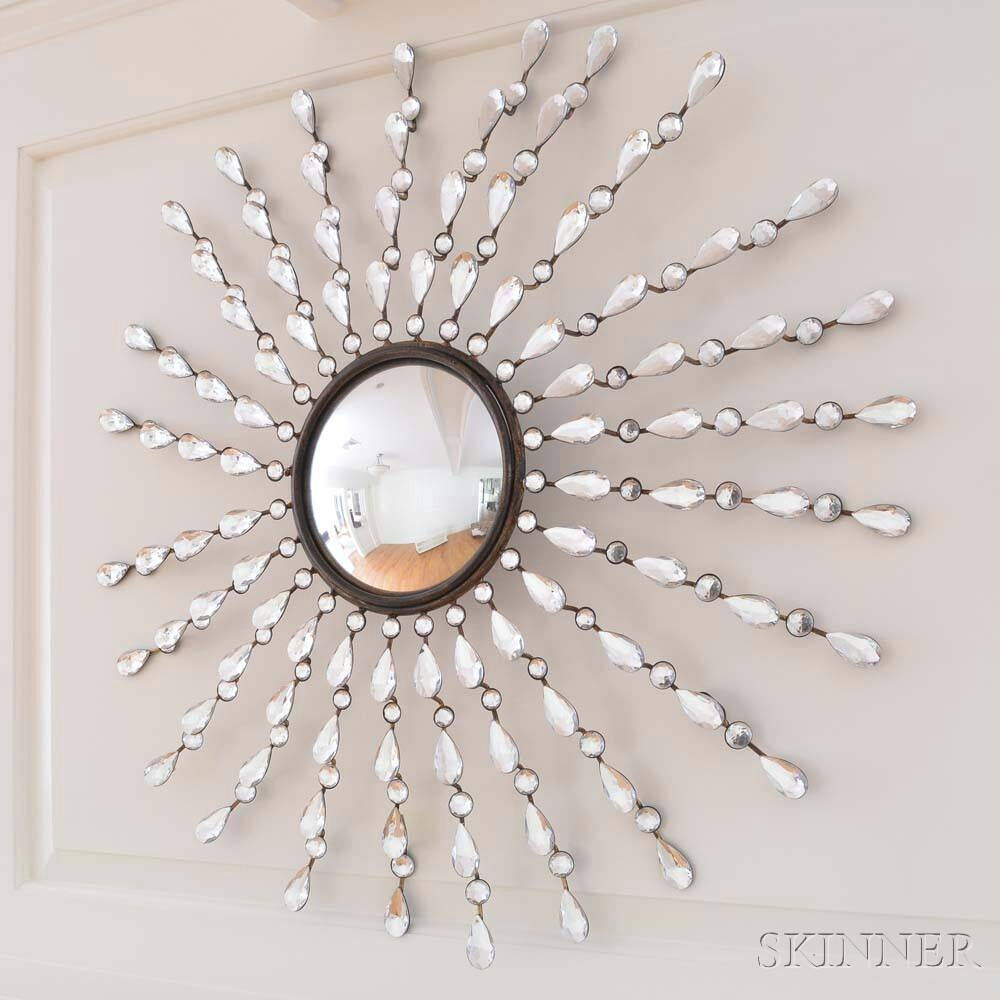 Jeweled Starburst Convex Mirror | Sale Number 2924T, Lot Number regarding Starburst Convex Mirrors (Image 7 of 15)