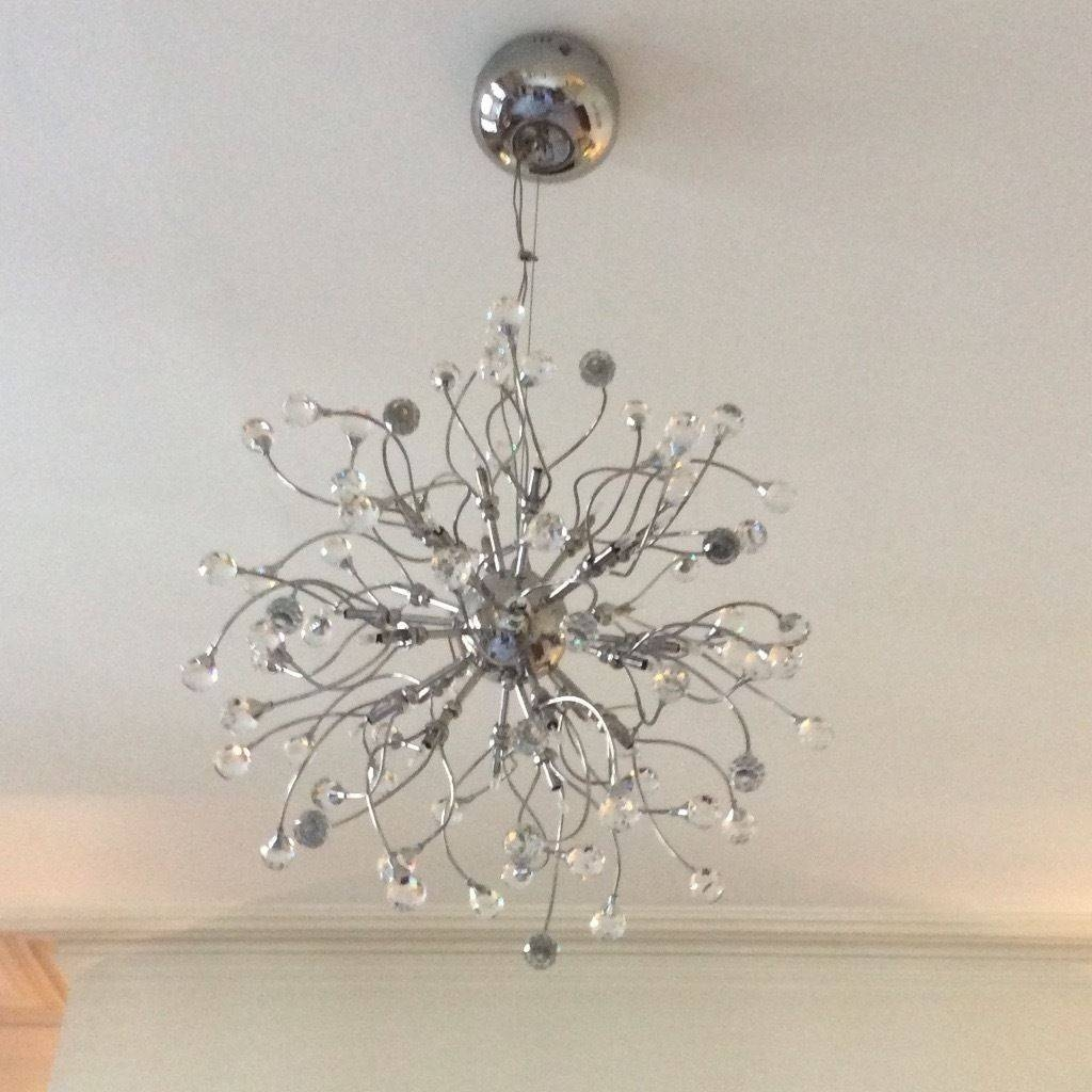 John Lewis Crystal And Chrome Ceiling Pendant Light | In in John Lewis Ceiling Pendant Lights (Image 8 of 15)