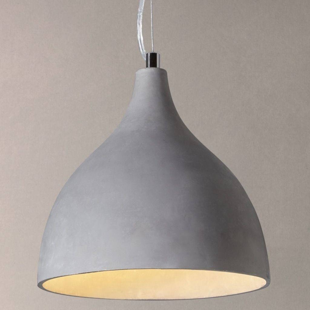 John Lewis Parry Concrete Effect Pendant Light | In Trafford throughout John Lewis Pendant Light Shades (Image 7 of 15)