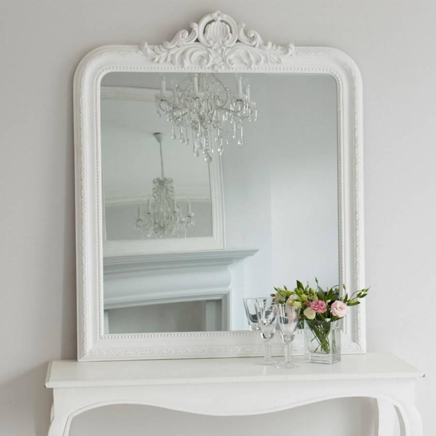 Josephine Mirror – White | Brissi Inside White Overmantle Mirrors (View 9 of 15)