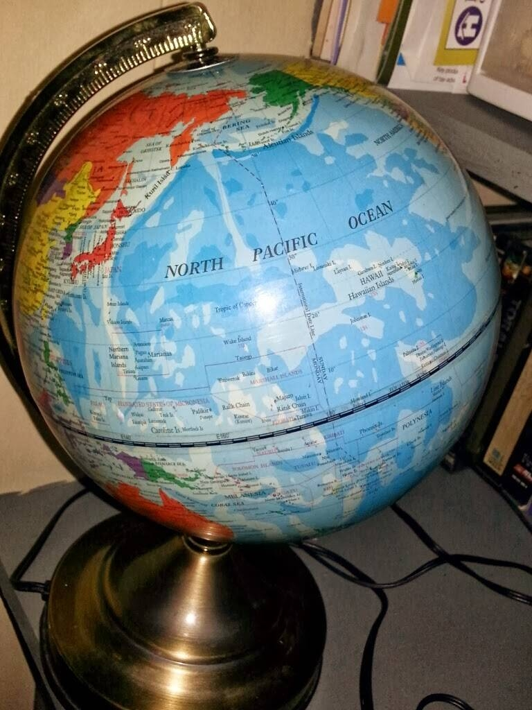 Junkin4Humanity Blog Log: How To Cut A World Globe In Half For A intended for World Globe Pendant Lights (Image 9 of 15)