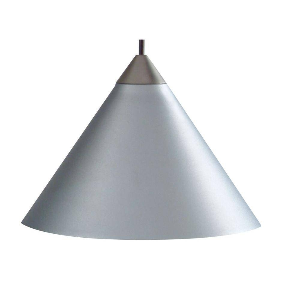 Juno 1-Light Silver Short Cone Metal Pendant Kit-Pkh P311 Slvr with regard to Short Pendant Lights (Image 9 of 15)