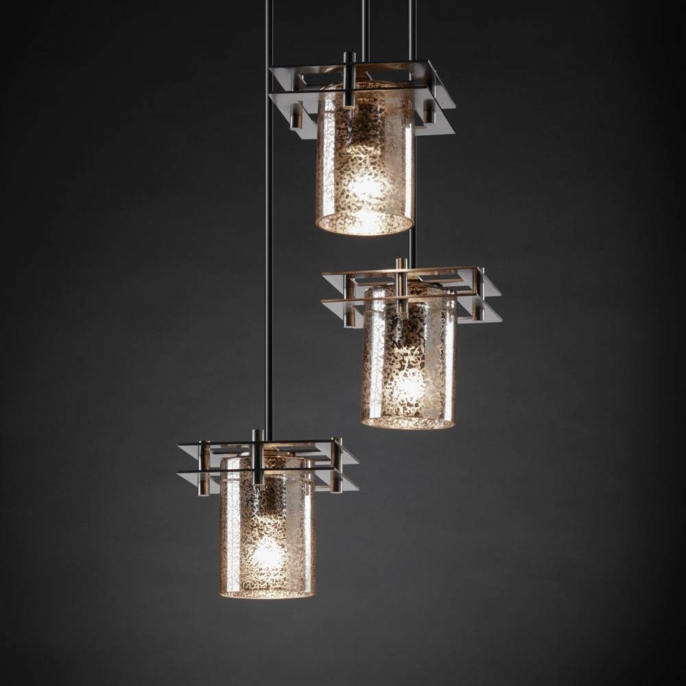 "Justice Design Fsn-8166 Fusion™ Artisan Glass 6.5"" Wide Multi regarding Artisan Glass Pendant Lights (Image 16 of 23)"