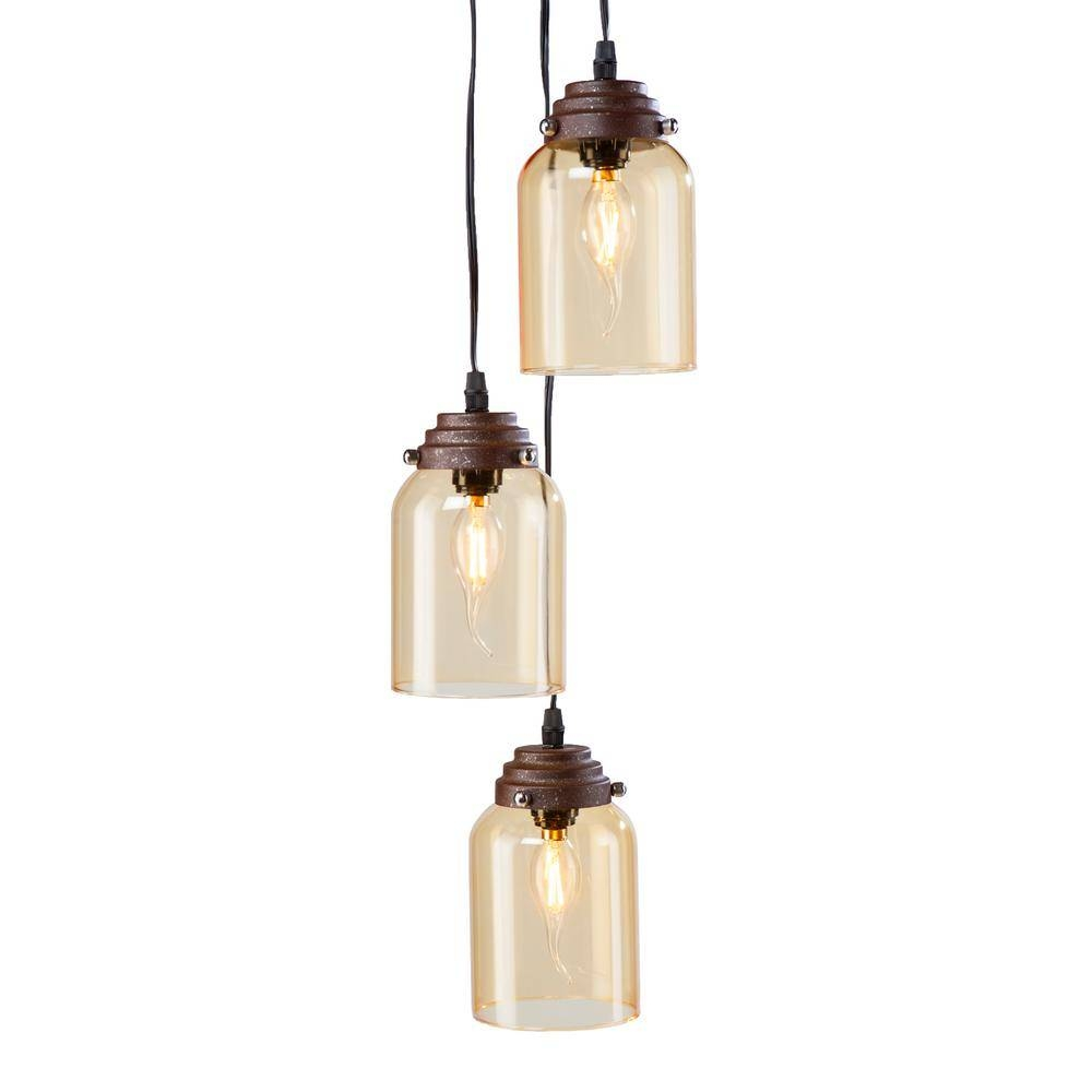 Featured Photo of Brown Glass Pendant Lights