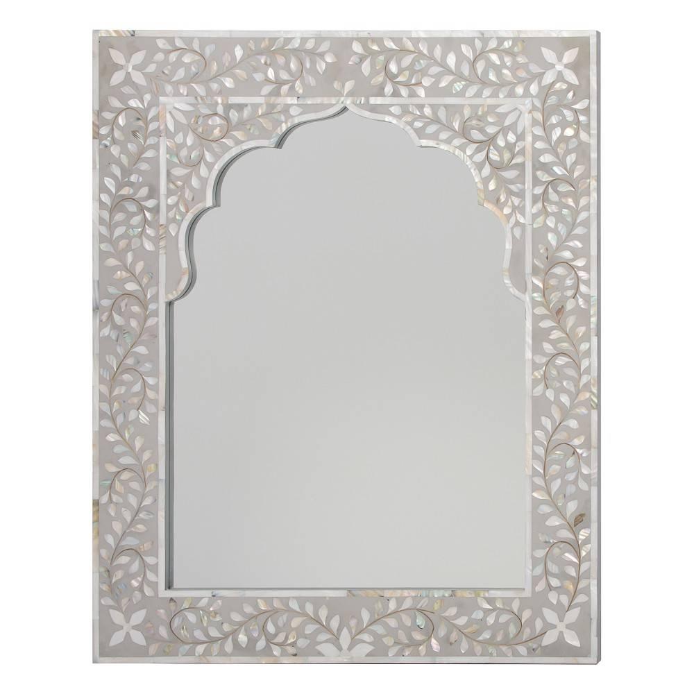 Kasbah Mother Of Pearl Wall Mirror In Steeple Grey With Regard To Mother Of Pearl Wall Mirrors (View 5 of 15)