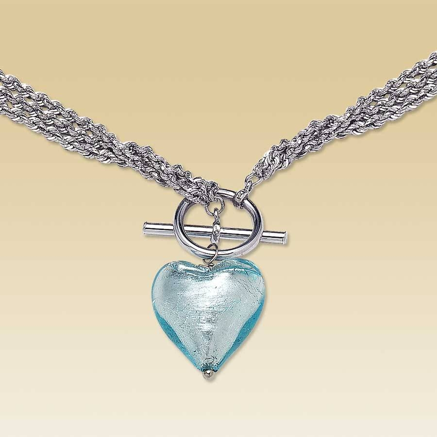 Kay - Clearance! 14K Gold Venetian Glass Heart Necklace intended for Venetian Glass Pendants (Image 8 of 15)