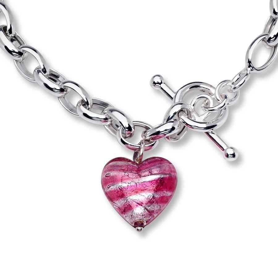 Kay - Venetian Glass Necklace Sterling Silver inside Venetian Glass Pendants (Image 10 of 15)