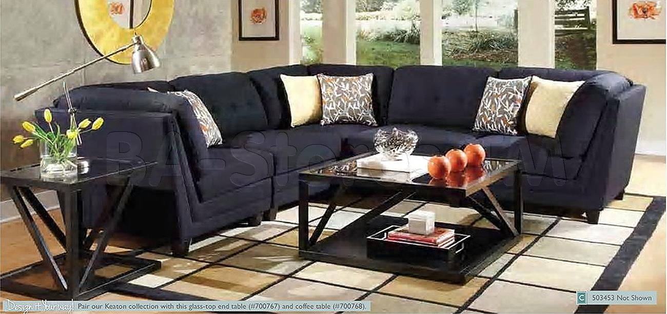 Keaton Sectional In Midnight Blue | Sectional Sofas Coa-503451-52/0 pertaining to Midnight Blue Sofas (Image 6 of 15)