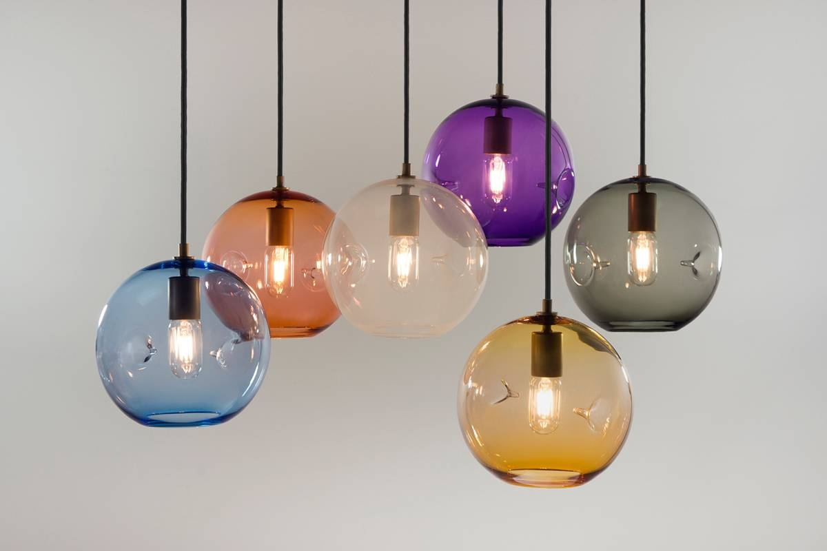 Keep Hand Blown Glass Lighting with Hand Blown Glass Pendants (Image 13 of 15)