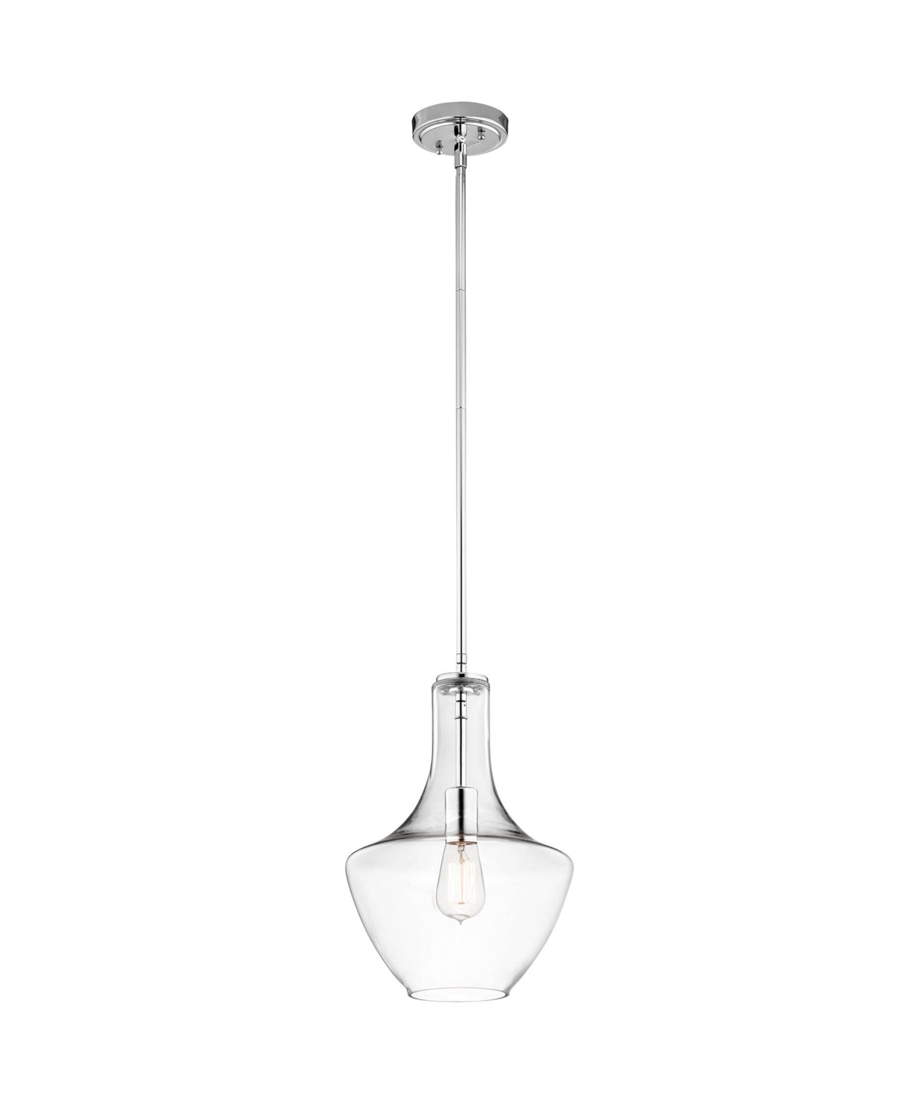 Kichler 42141 Everly 11 Inch Wide 1 Light Mini Pendant | Capitol For Kichler Mini Pendant Lights (View 10 of 15)