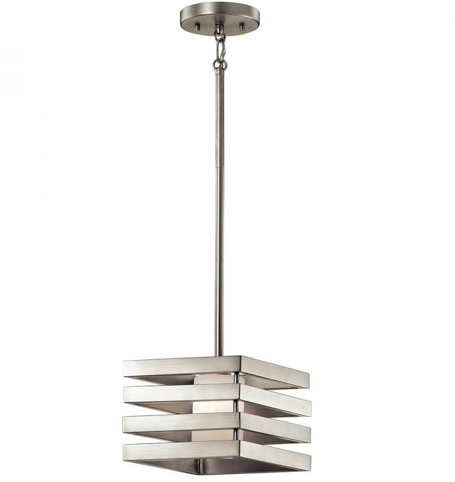 Kichler 43688Ni Realta Contemporary Brushed Nickel Halogen Mini throughout Halogen Mini Pendant Lights (Image 8 of 15)