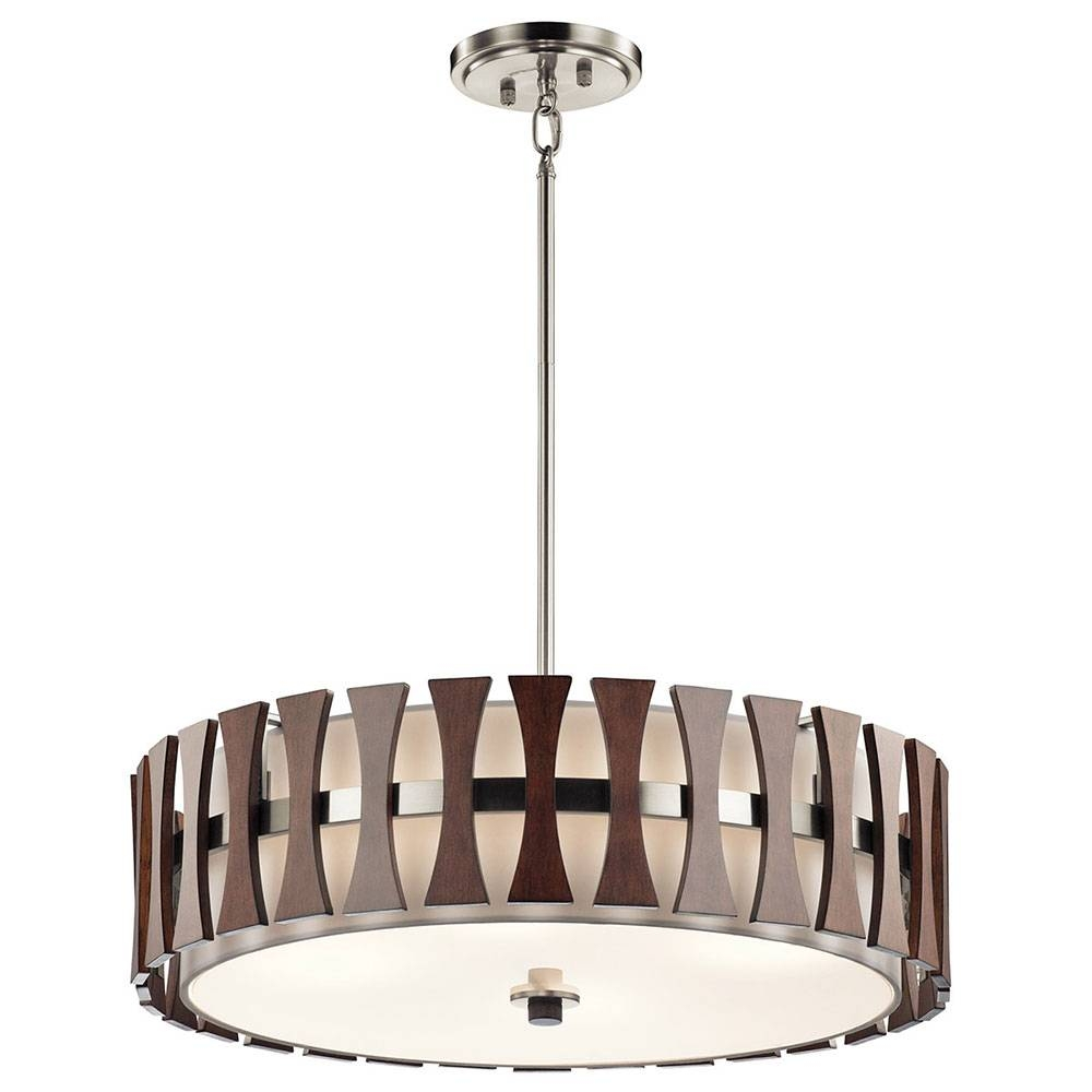 Kichler 43753aub Cirus Modern Auburn Stained Drum Pendant Lighting Within Kichler Pendant Lights Fixtures (View 5 of 15)