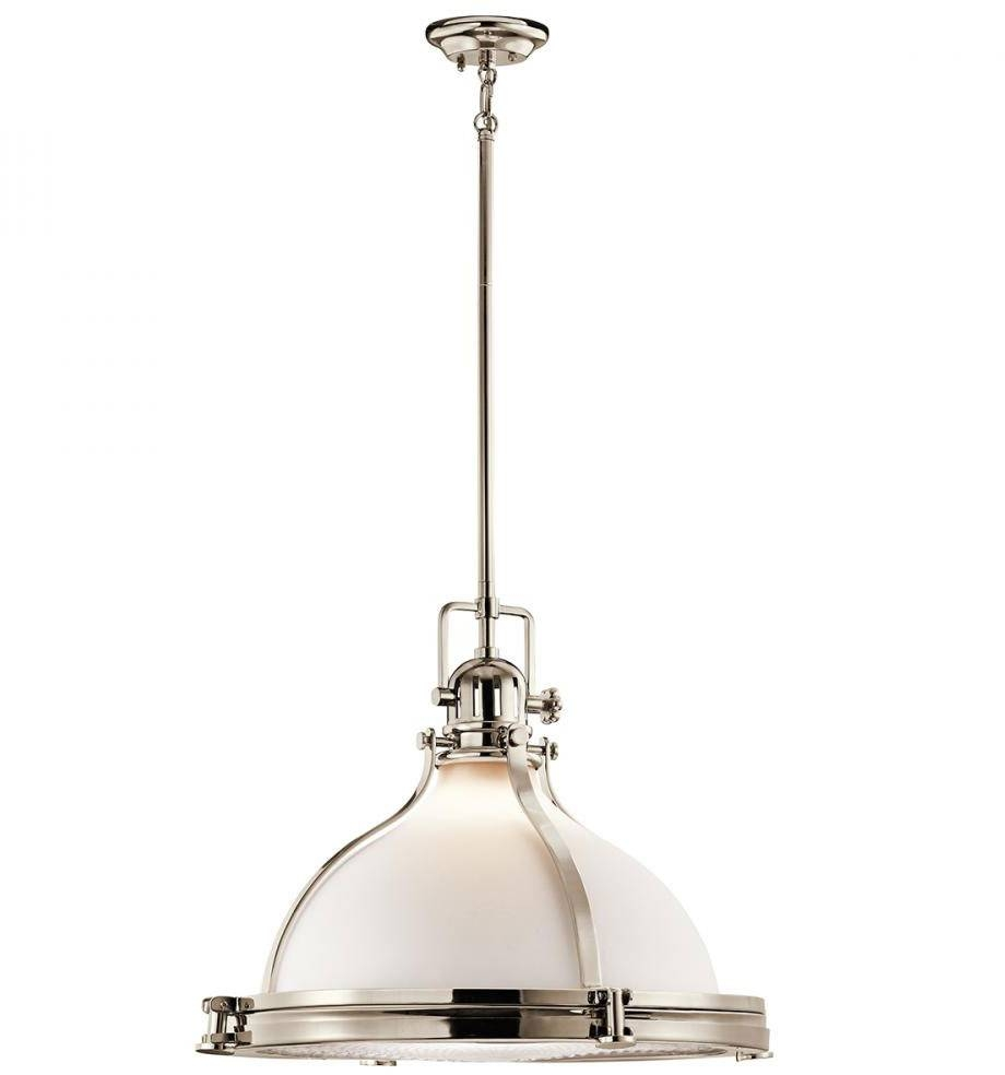 Kichler 43768pn Hatteras Bay Nautical Polished Nickel Pendant In Kichler Pendant Lights Fixtures (View 7 of 15)