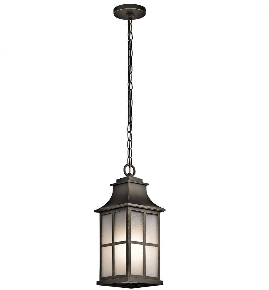 Kichler 49582Oz Pallerton Way Olde Bronze Outdoor Hanging Light throughout Hanging Lights Fixtures (Image 8 of 15)