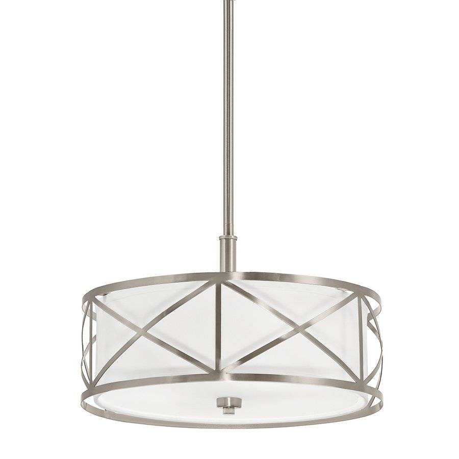 Kichler Lighting 3 Light Drum Pendant Cross | Lowe's Canada with regard to Drum Pendant Lights (Image 10 of 15)
