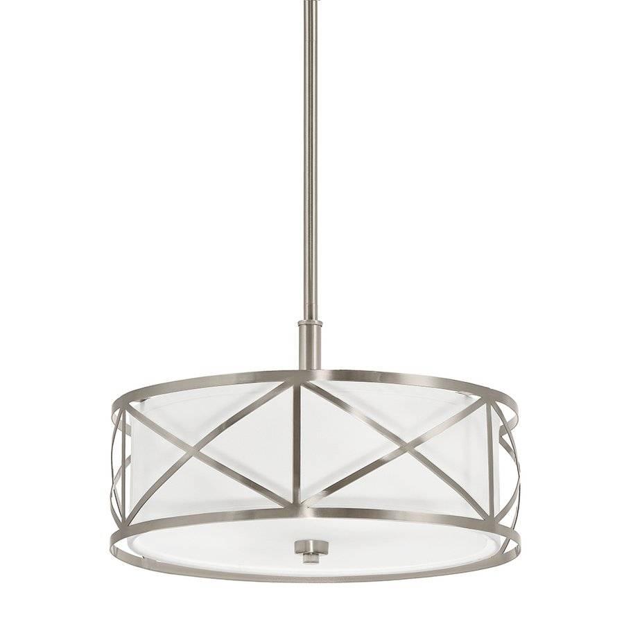 Kichler Lighting 3 Light Drum Pendant Cross | Lowe's Canada Within Canada Pendant Light Fixtures (View 9 of 15)