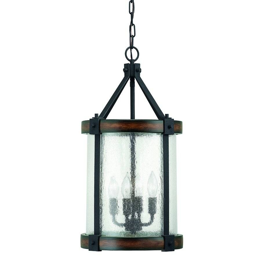 Kichler Lighting 4 Light Wood Foyer Pendant | Lowe's Canada Within Canada Pendant Light Fixtures (View 10 of 15)