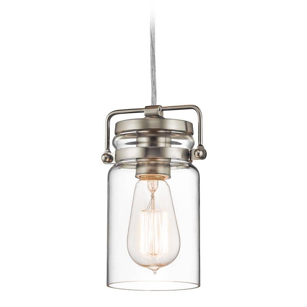 Kichler Lighting Brinley Brushed Nickel Mini Pendant Light With Within Kichler Mini Pendant Lights (View 7 of 15)