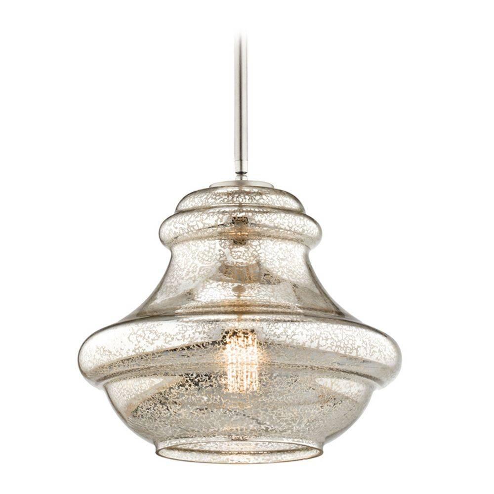 Kichler Lighting Everly Brushed Nickel Pendant Light With Urn Throughout Kichler Pendant Lighting For Kitchen (View 4 of 15)