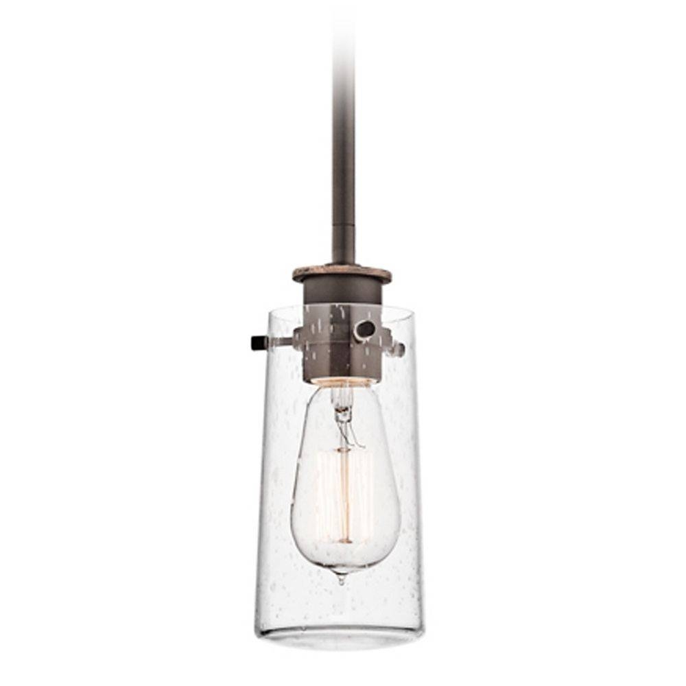 Kichler Mini Pendant Light With Clear Glass | 43060Oz In Seeded Glass Mini Pendant Lights (View 2 of 15)