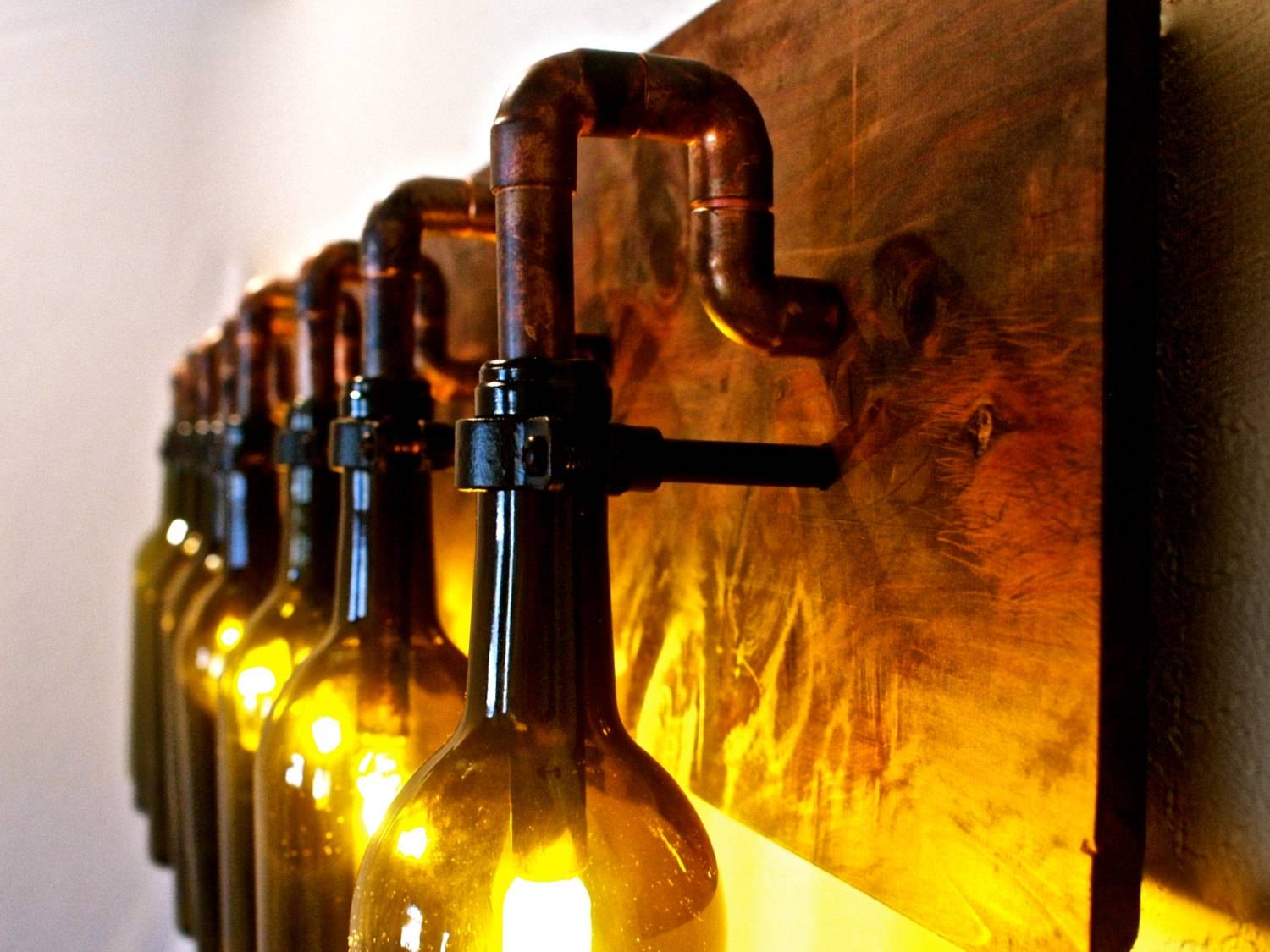 Kitchen. Charming Wine Bottle Light Fixture Bring Vintage Style pertaining to Wine Glass Lights Fixtures (Image 8 of 15)
