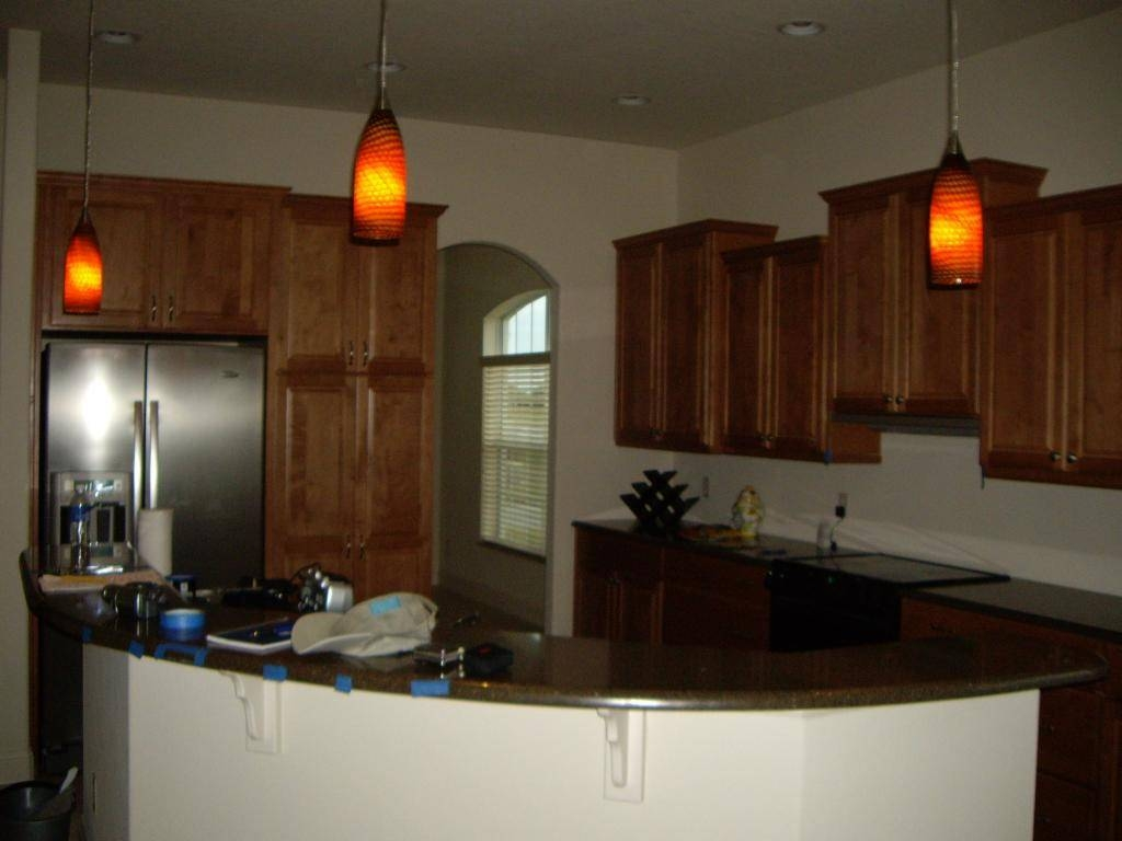 Kitchen ~ Contemporary Pendant Lights For 2017 Kitchen Island With Regard To Orange Pendant Lights For Kitchen (View 10 of 15)