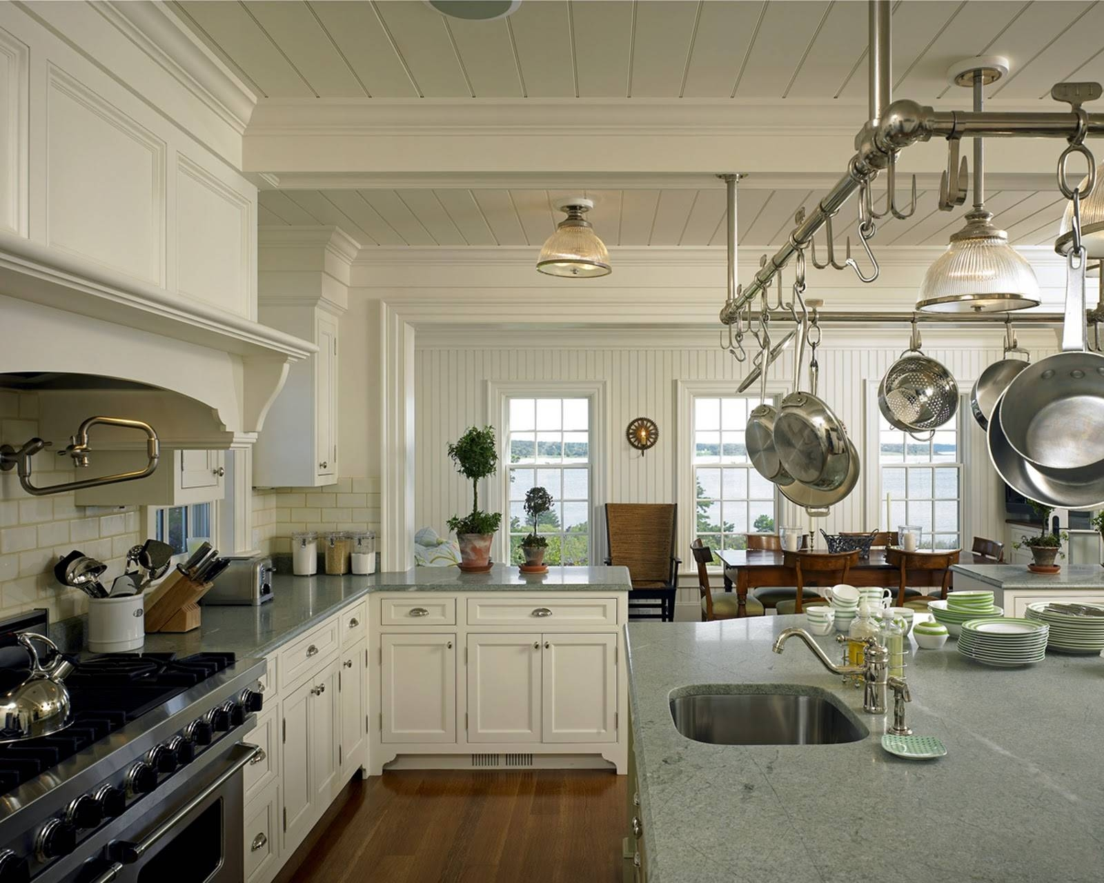 Kitchen Design Ideas: Incredible Decoration Kitchen Pots And Pans within Kitchen Pendant Lights With Pot Rack (Image 11 of 15)