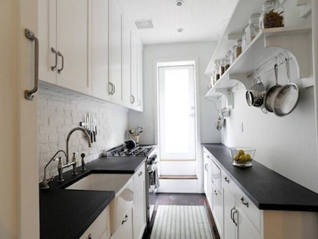 Kitchen : Designer Galley Kitchens White Rta Cabinets Microwave in Threshold Pendant Lights (Image 9 of 15)
