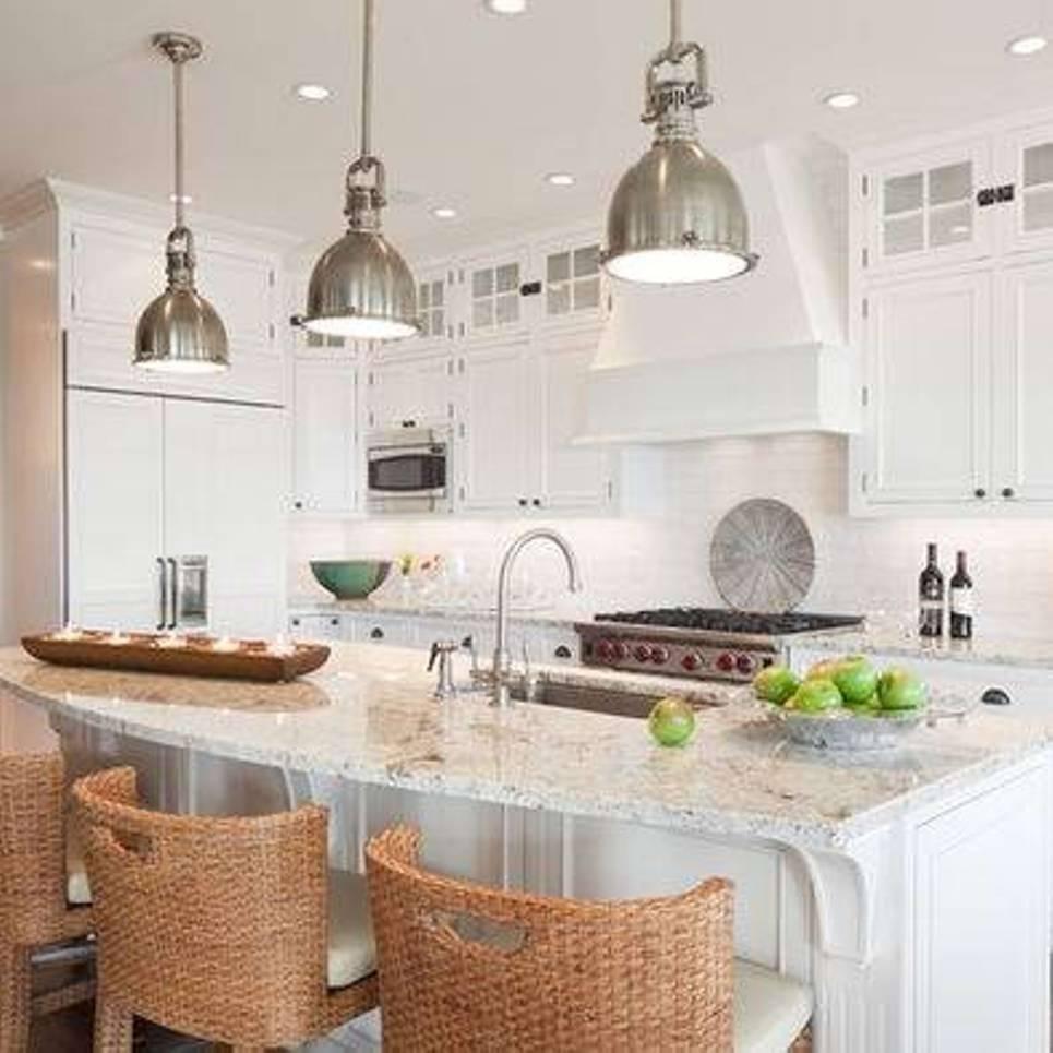 Popular Photo of Stainless Steel Kitchen Pendant Lights
