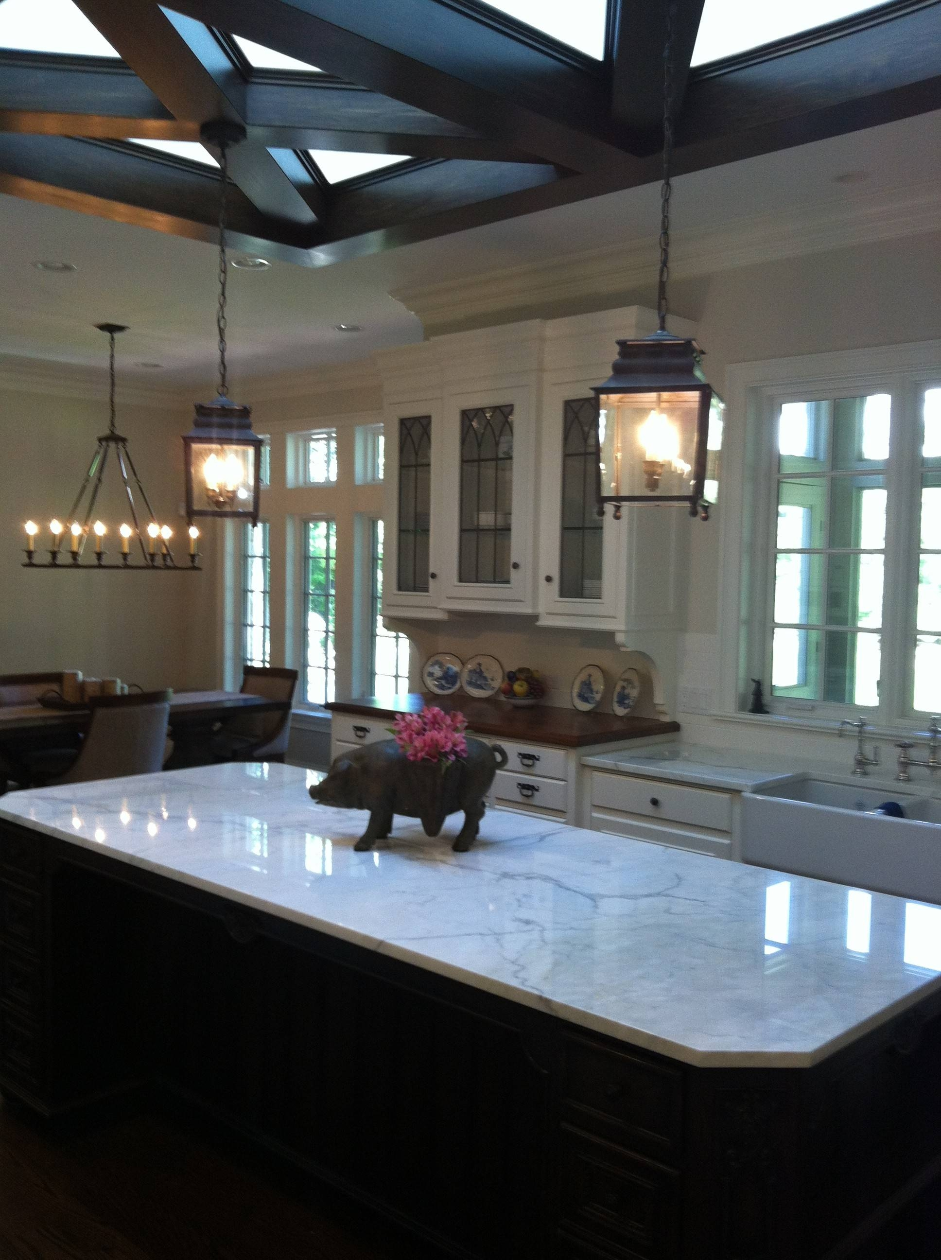 Kitchen : Hornbrook Kitchen With Hanging Copper Pendant Also for Wrought Iron Pendant Lights For Kitchen (Image 9 of 15)