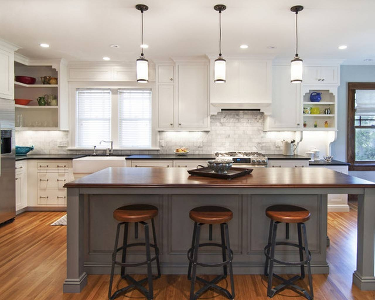 Featured Photo of Mini Pendants For Kitchen Island