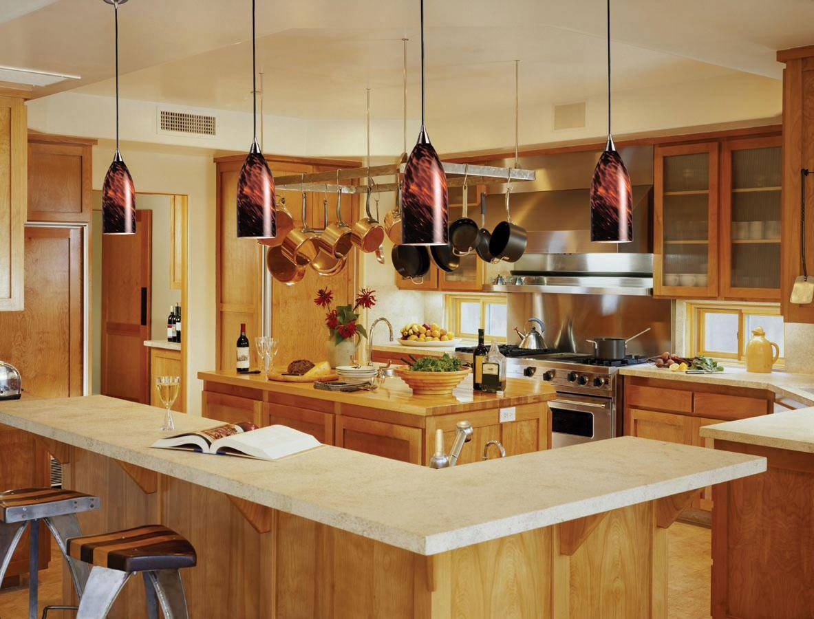 Kitchen Island Pendant Lighting, To Everyone's Taste! | Lighting In Orange Pendant Lights For Kitchen (View 3 of 15)