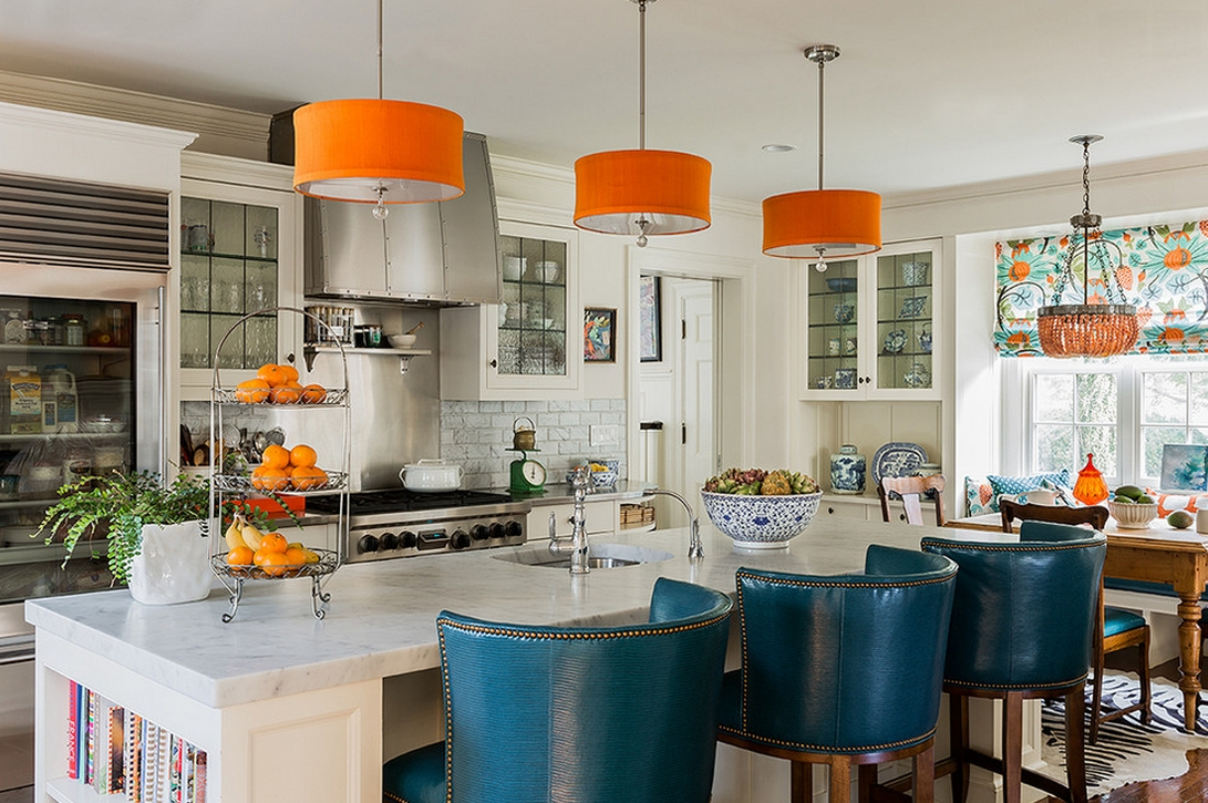 Featured Photo of Orange Pendant Lights For Kitchen
