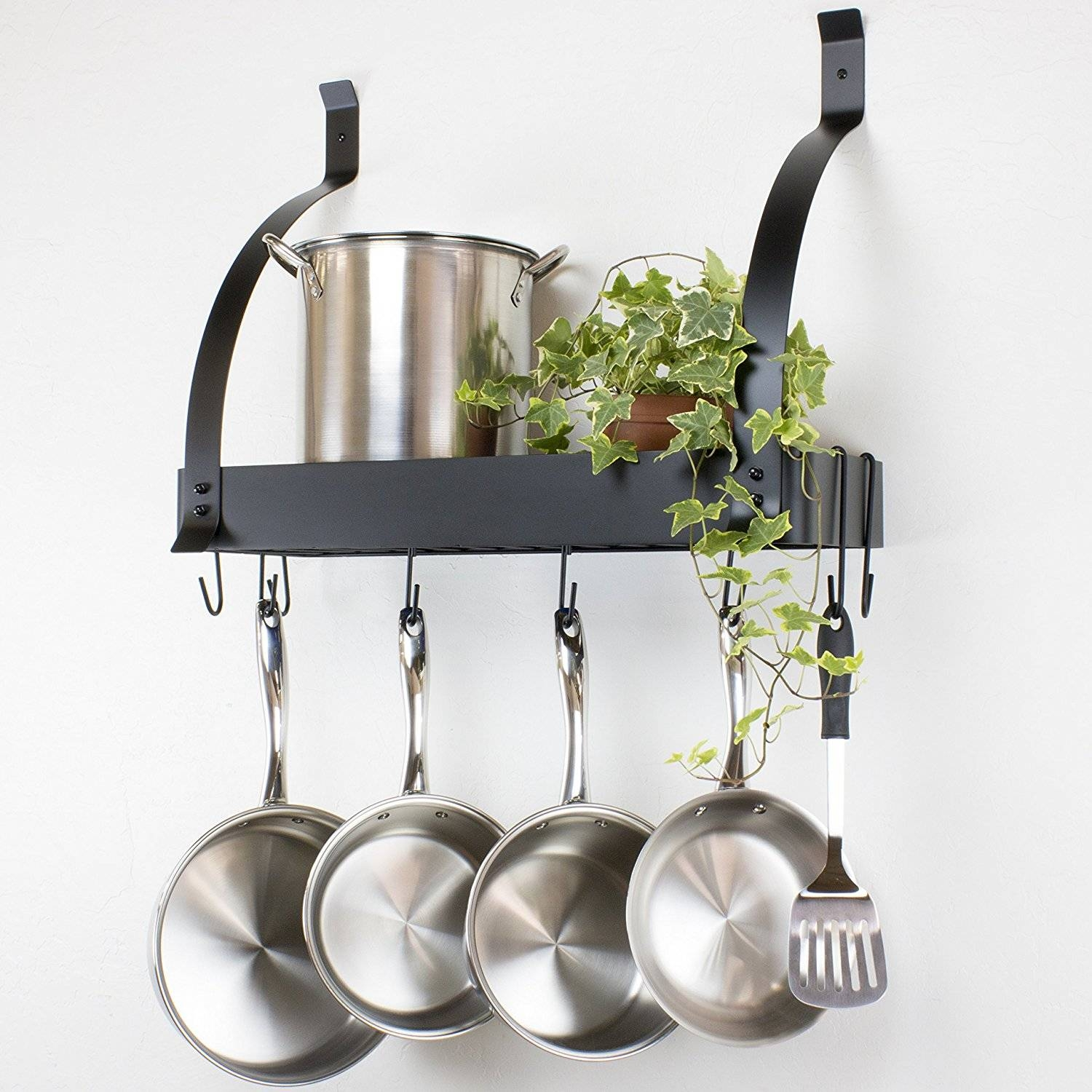 Kitchen: Lighted Pot Racks | Lowes Pot Rack | Lighted Pot Rack with regard to Pot Rack With Lights Fixtures (Image 6 of 15)
