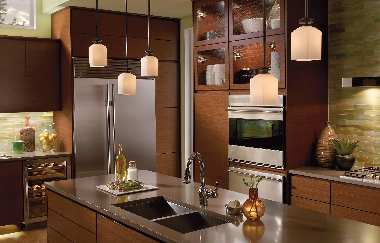 Kitchen Lighting: Stunning White Hanging Pendant Lights Over in Double Pendant Lights For Kitchen (Image 11 of 15)