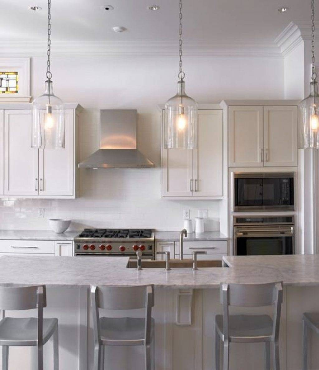 Kitchen ~ Lovely Glass Pendant Lights For Kitchen 85 With with Restoration Hardware Pendants (Image 4 of 15)