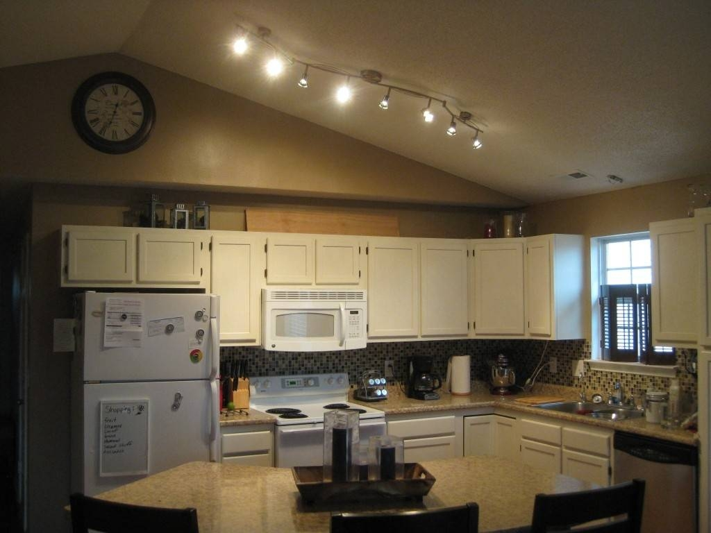 Kitchen Track Lighting Vaulted Ceiling | Redtinku Within Sloped Ceiling Track Lighting (View 9 of 15)