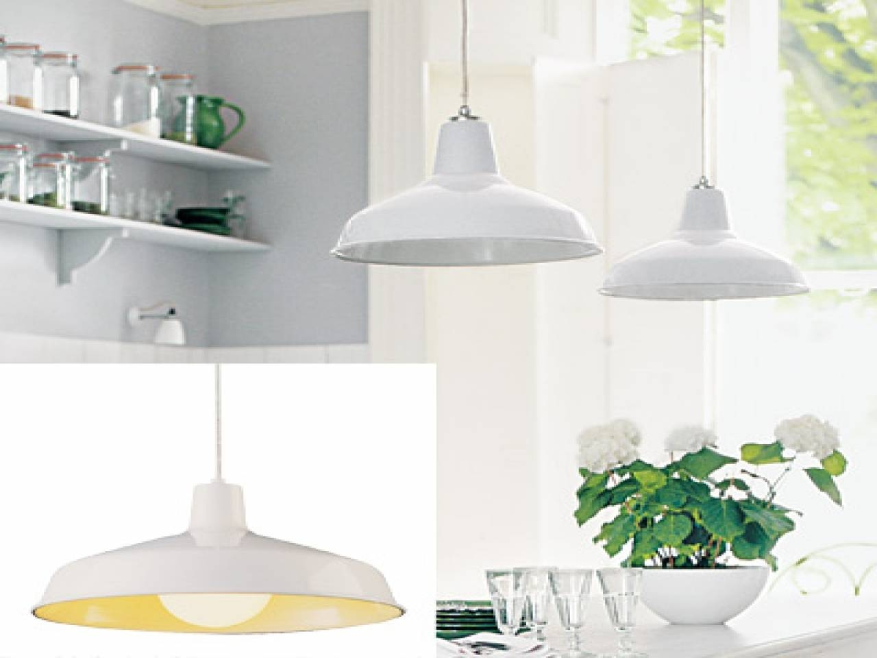 Kitchen White Barn Pendants, Barn Light Pendant Create A Simple Intended For Galvanized Pendant Barn Lights (View 12 of 15)