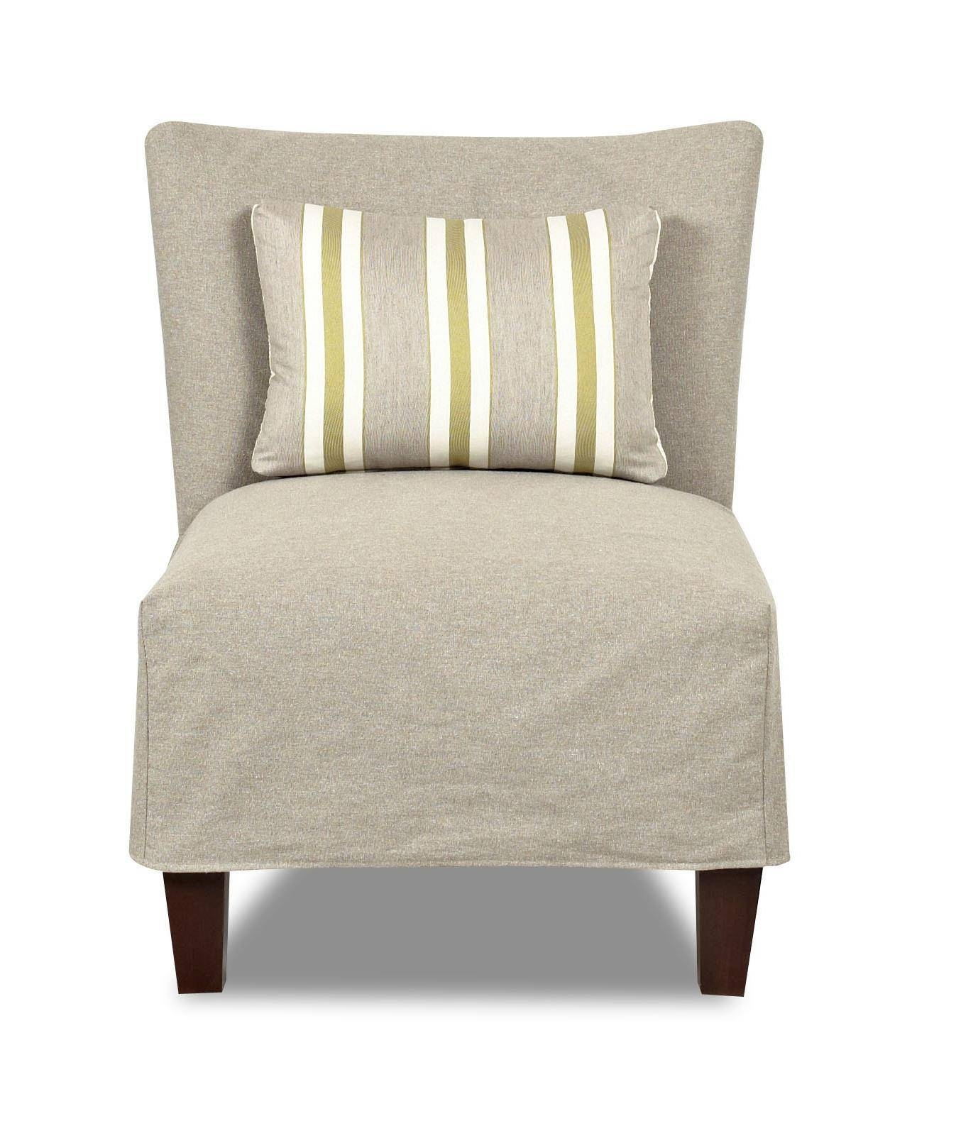 Klaussner Chairs And Accents Armless Accent Chair With Slipcover with Armless Slipcovers (Image 15 of 15)