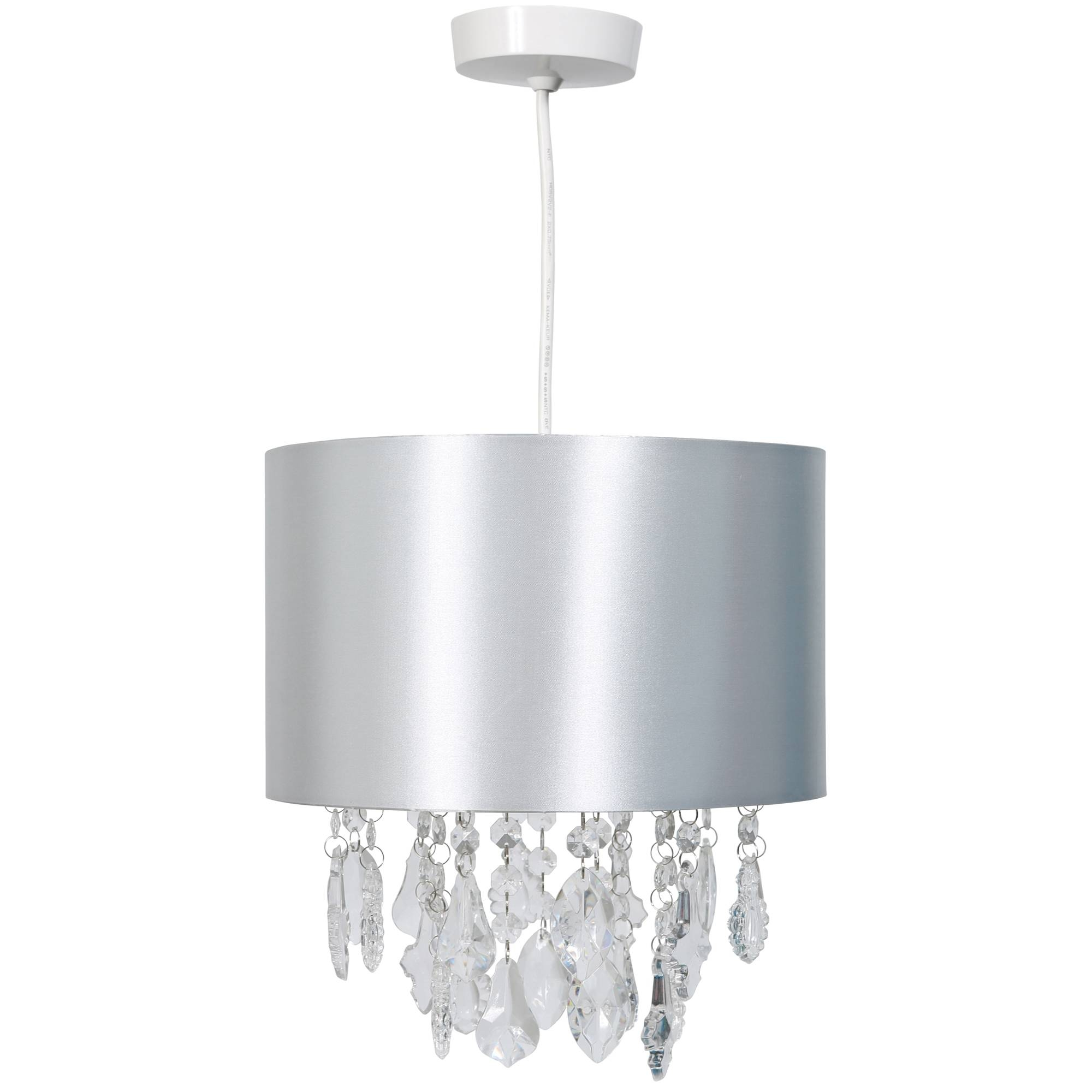 Kliving Sheldon Silver Acrylic Beads Non Electric Pendant Ceiling pertaining to Non Electric Pendant Ceiling Lights (Image 12 of 15)