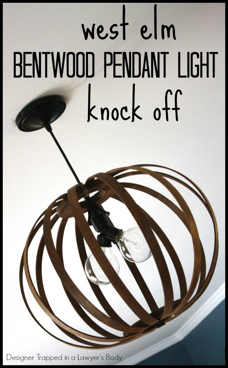 Knock Off Bentwood Pendant Light {Via Designer Trapped In A inside Bentwood Pendants (Image 5 of 15)
